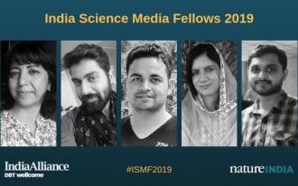 Five science journalists receive the first India Science Media Fellowships